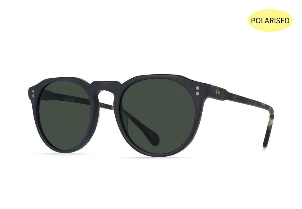 RAEN Remmy 49 Matte Black Matte Brindle/Green Polarised - Board Store RaenSunglasses