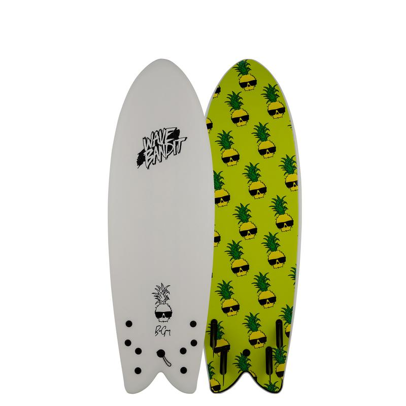 Catch Surf Wave Bandit Retro Fish - Ben Gravy 5'8 White 20 - Board Store Catch SurfSoftboard