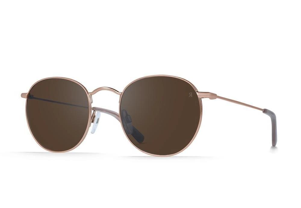 RAEN Benson 51 Rose Gold Brown/Silver Mirror - Board Store RaenSunglasses