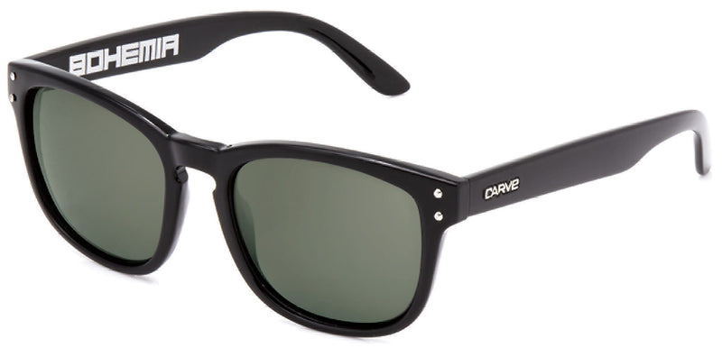 Carve Bohemia Black Green lens Polarised - Board Store CarveSunglasses