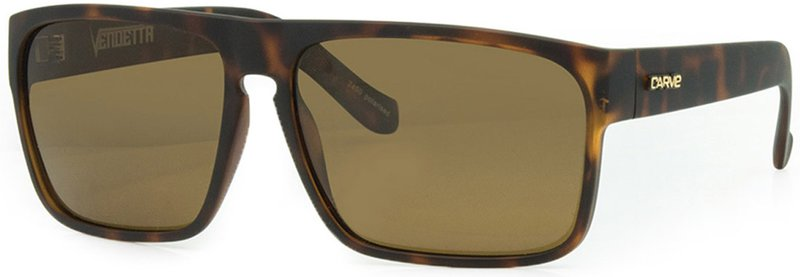 Carve Vendetta Brown Tort Polarised - Board Store CarveSunglasses