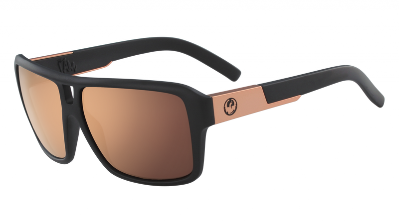 Dragon The Jam Matte Black/Rose Gold Ionised - Board Store Dragon AllianceSunglasses