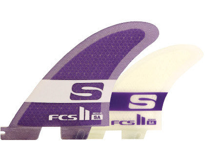 FCS II SA PC Medium Tri-Quad Fins - Board Store FCSFins