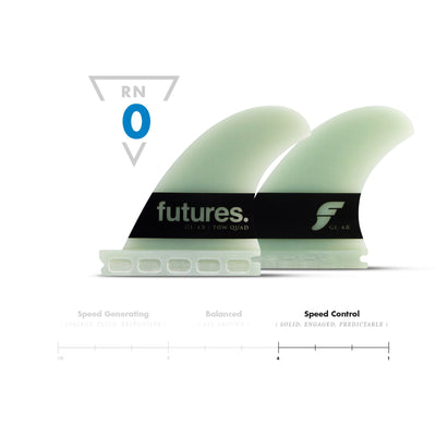 "Futures GL 4"" Quad G10 - Board Store FuturesFins"