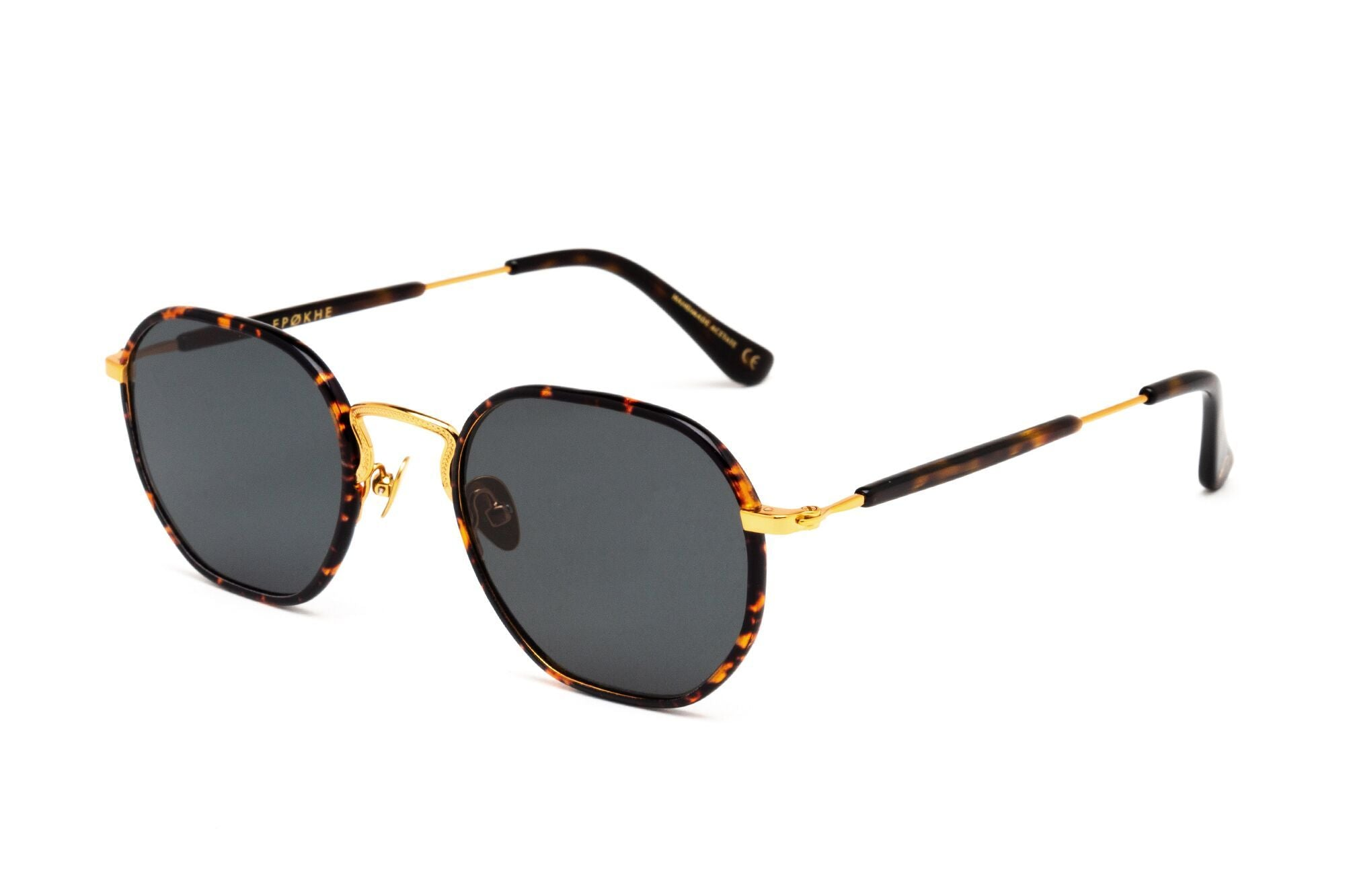 Epokhe DENZ - TORTOISE POLISHED WINDSOR WRAP/GOLD/GREEN - Board Store EpokheSunglasses