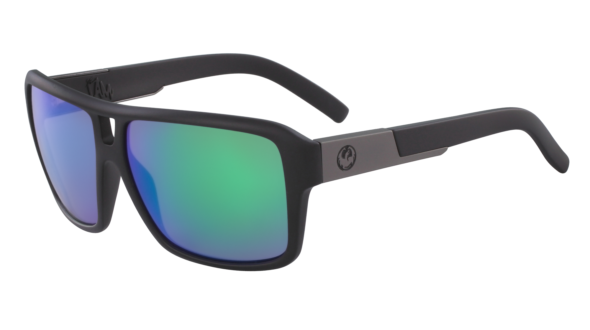 Dragon The Jam Matte Black/Green Ionised - Board Store Dragon AllianceSunglasses