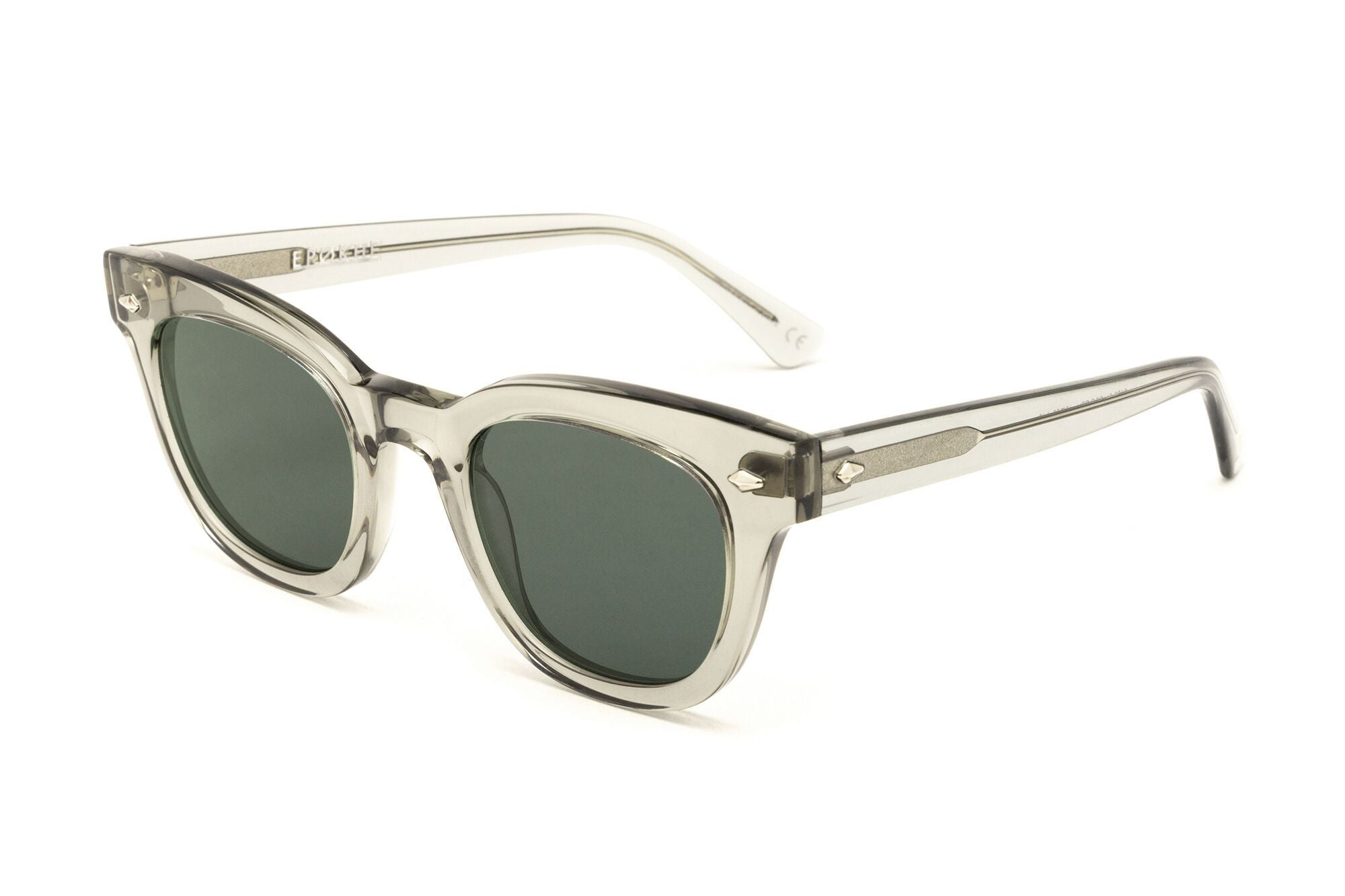 Epokhe DYLAN - SMOKE CRYSTAL POLISHED/GREEN - Board Store EpokheSunglasses
