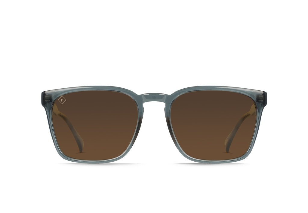 RAEN Pierce Slate Crystal/Vibrant Brown Polarised - Board Store RaenSunglasses