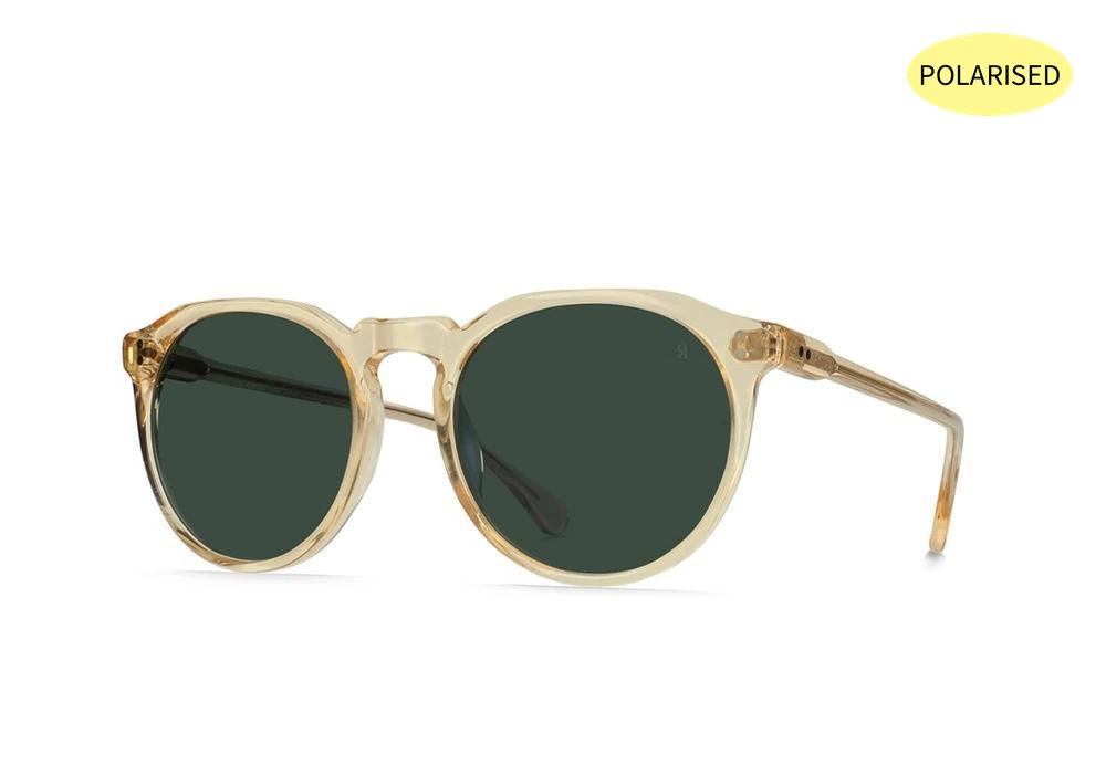 RAEN Remmy 49 Champagne Crystal/Green Polarised - Board Store RaenSunglasses