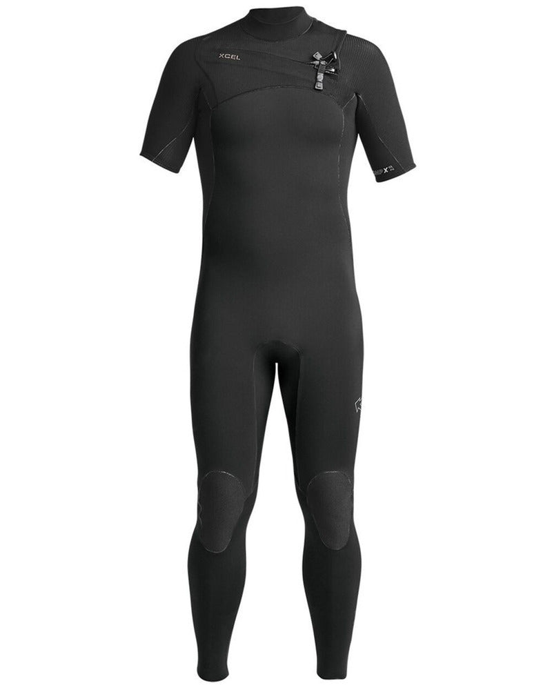 MENS XCEL COMP X SHORT SLEEVE WETSUIT - CHEST ZIP 2021 - Board Store XcelWetsuits