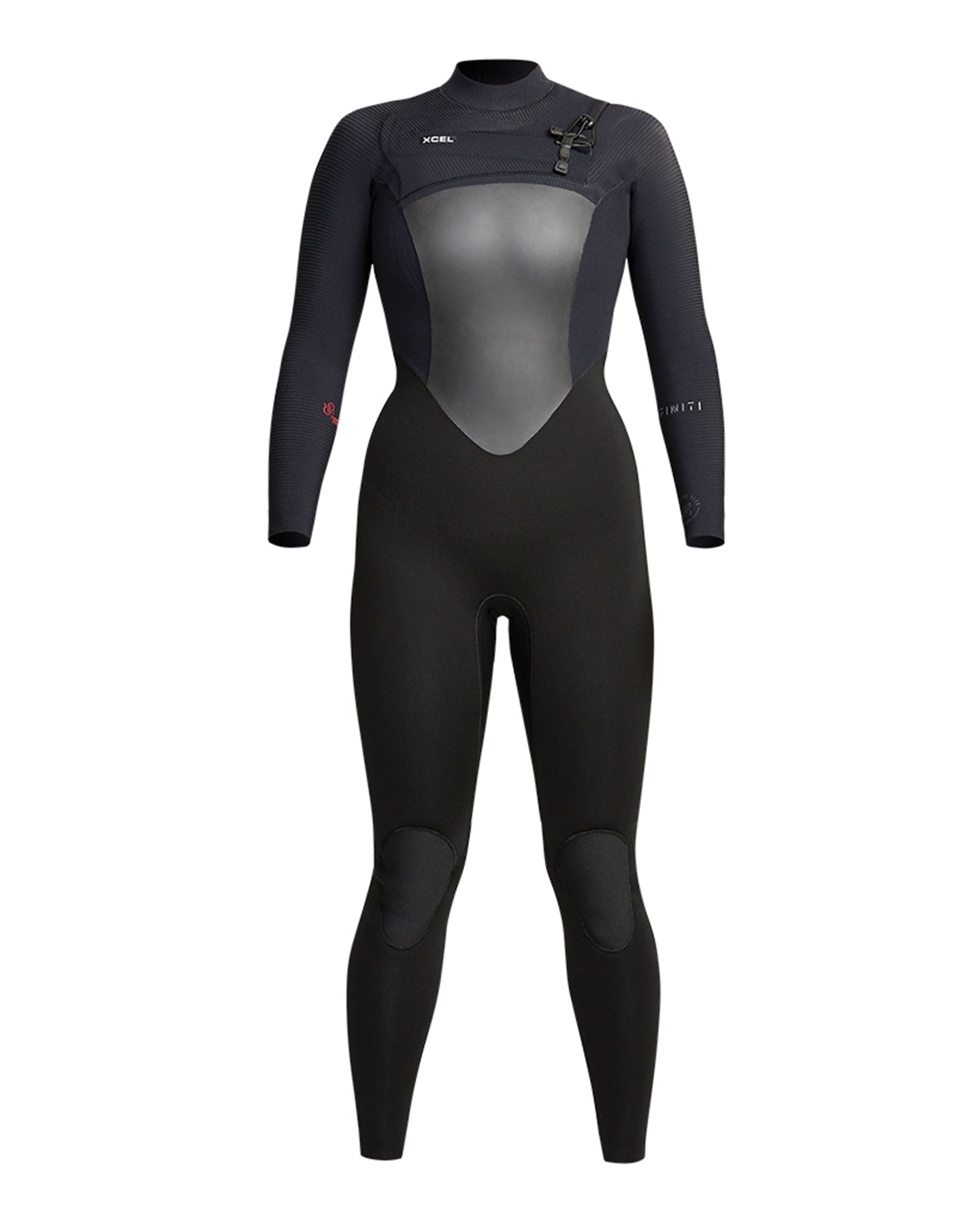 XCEL WOMENS RADIANT REBOUND 3/2 FULLSUIT CHEST ZIP - BLACK 2021 - Board Store XcelWetsuits