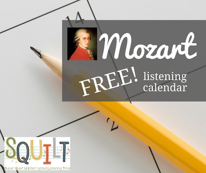 Learn About Mozart - Free Listening Calendar