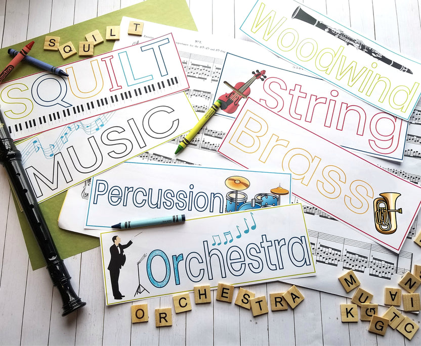 Printable Music Word Cards
