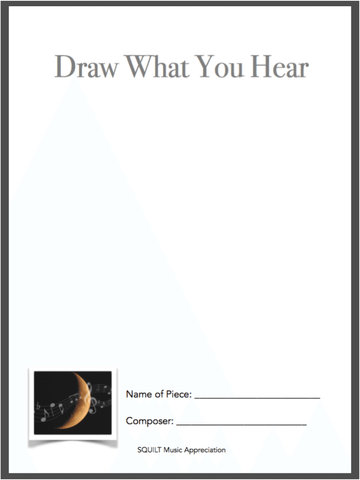 Draw What You Hear free printable - Classical Music and the Moon