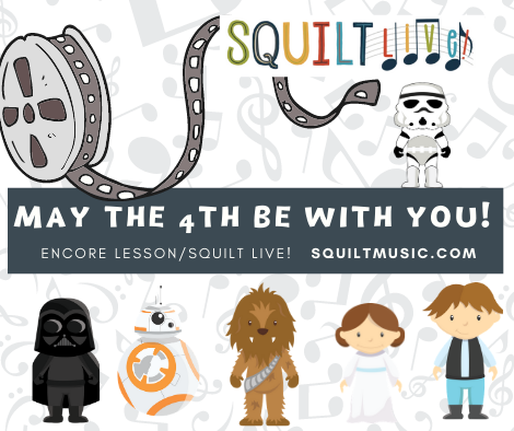 May the 4th Be With You Encore Lesson in SQUILT LIVE! #homeschool
