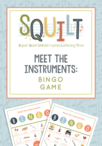 Meet the Instruments Bingo Game