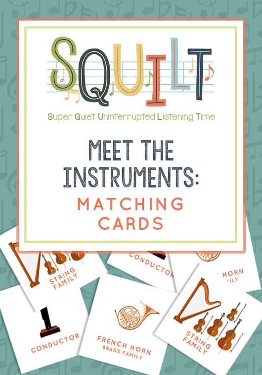 Meet the Instruments Matching Cards