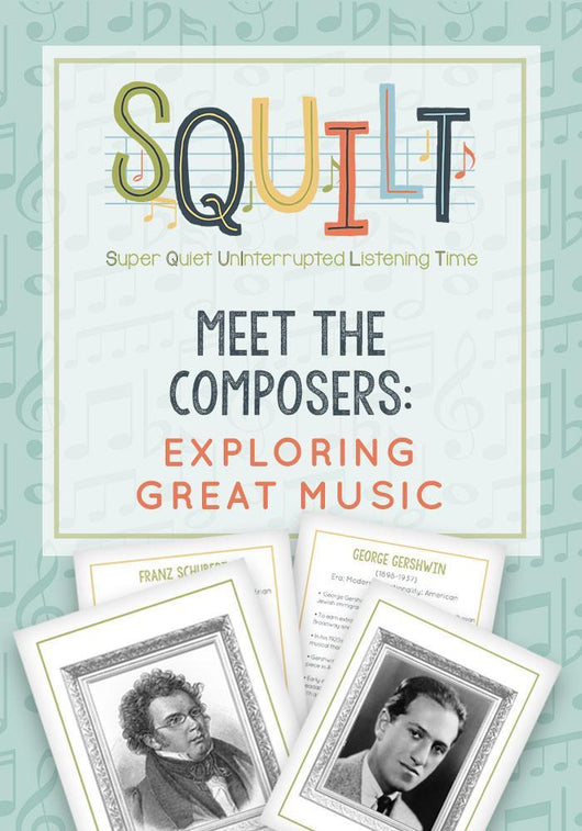 Squilt Music Appreciation Cards Meet the Composers: Exploring Great Music