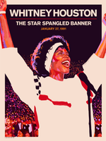 Whitney Houston Star Spangled Banner 30th Anniversary by Akiko Stehrenberger