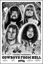 Pantera Cowboys From Hell 30th Anniversary Poster by Paul Jackson (Main Edition)