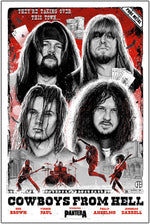 Pantera Cowboys From Hell 30th Anniversary Poster by Paul Jackson (Red Variant Edition)