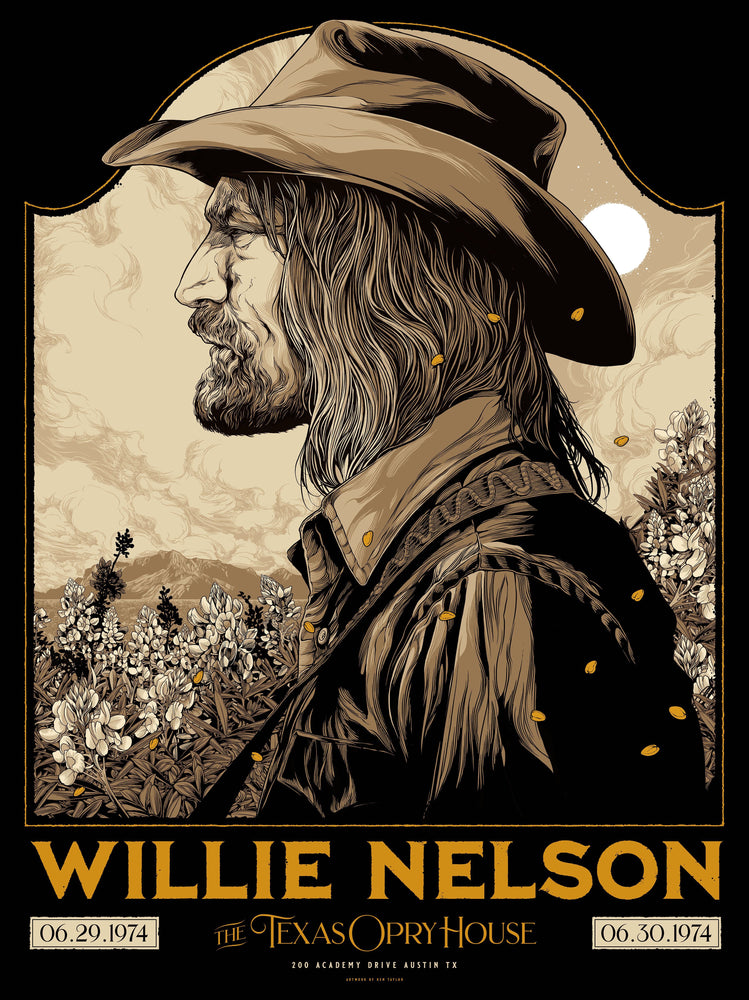 Willie Nelson Austin 1974 by Ken Taylor (Main Edition)