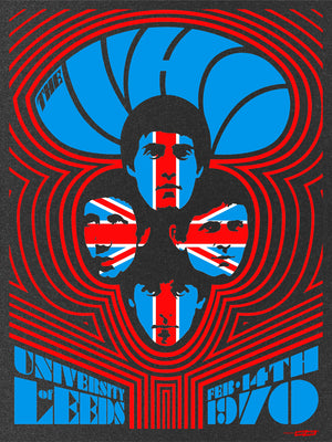 The Who Leeds #2 1970 by Ames Bros (Black Metallic Edition)