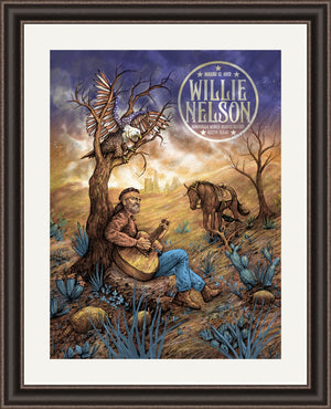 Willie Nelson Austin 1972 by Zeb Love (Dusk Edition)