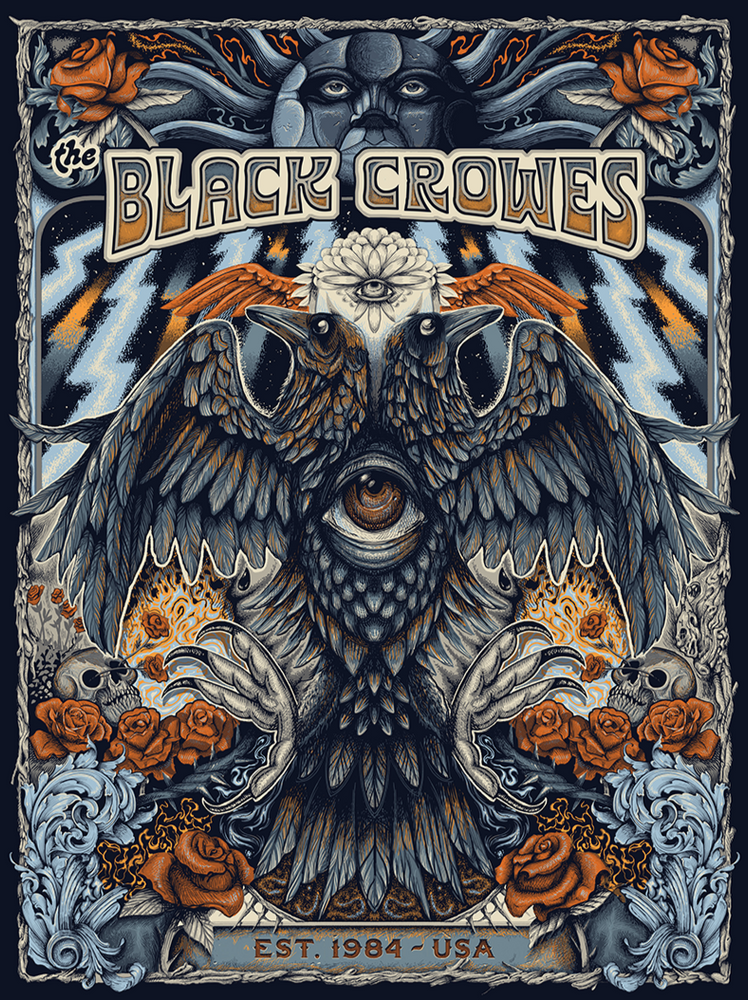 The Black Crowes Est. 1984 by Paul Kreizenbeck (Variant Edition)