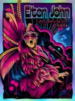 Elton John 1974 North American Tour by Maxx242 (Foil Edition)