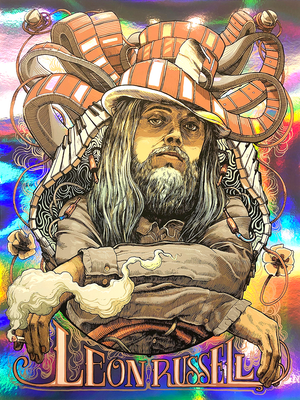 Leon Russell A Song For You 50th Anniversary by Dave Kloc (Rainbow Foil)