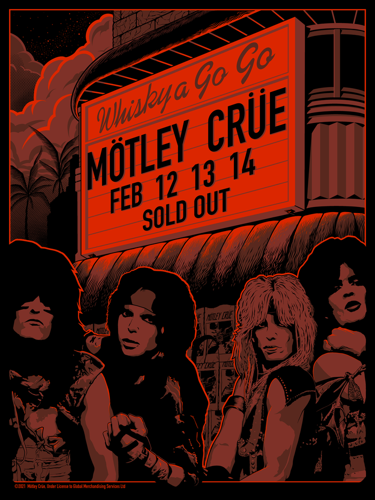 Mötley Crüe Whisky A Go-Go 1982 by Andrew Alekseev