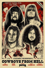 Pantera Cowboys From Hell 30th Anniversary Poster by Paul Jackson (Natural Variant Edition)