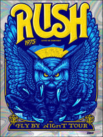 Rush- Fly By Night Tour 45th Anniversary by Ames Bros (Swirl Foil Variant)