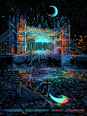 The Who London 1970 by James R. Eads (Rainbow Foil Edition)