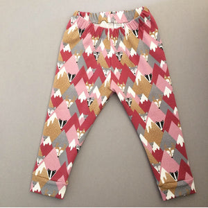 Organic Pink Mountain Leggings