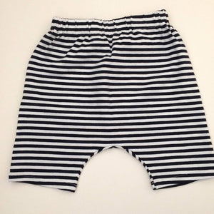Navy Stripe Harem Shorts (3yr)