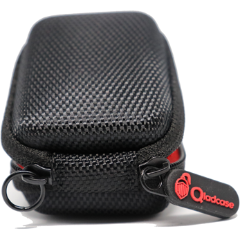 Qladcase AirPods/Earbuds Case - Black/Red - Qladco