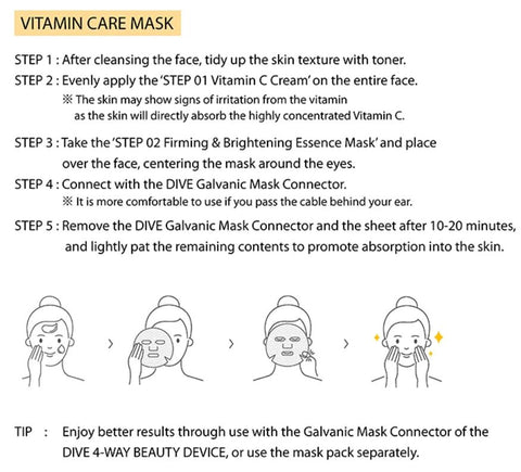 DIVE VITAMIN CARE MASK HOW TO USE
