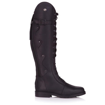 Bareback Footwear Woman's Andalucia Black Leather Long Equestrian Style Boots, High Performance, Quality Equestrian Footwear, Shop online or buy in the Knightsbrand, Rookley, Isle of Wight, UK store.