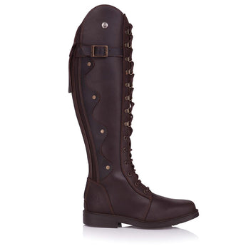 Bareback Footwear Woman's Andalucia Boots Brown Long Leather Equestrian Style Boots. High Performance, Quality Equestrain Footwear, Shop online or buy in the Knightsbrand, Rookley, Isle of Wight UK store.
