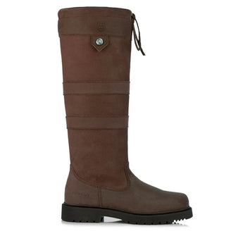 Bareback Footwear Nubuck Leather brown Dakota Country and Equestrian Style Long Boot. High performance, quality equestrian and country footwear, Shop online or buy in the Knightsbrand, rookley, isle of wight, UK store.