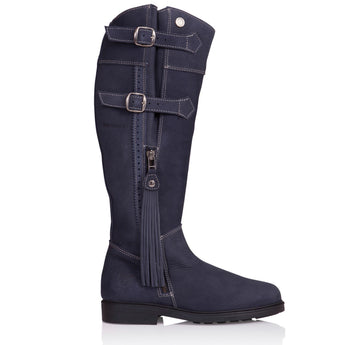 Bareback Footwear Men's and Woman's Luciana Blue Nubuck Leather Country Style Blue High performance, quality country and equestrian style footwear, shop online or buy in the knightsbrand, rookley, isle of wight Uk store.