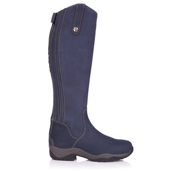 Bareback Footwear Men's and Woman's Montana Long Riding Boot in Brown Nubuck Leather high performance, quality equestrian footwear, shop online or buy in the knightsbrand rookley, isle of wight, UK store.