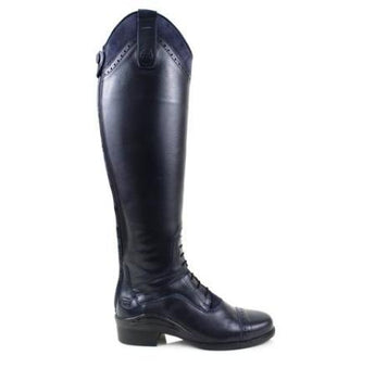 Bareback Footwear Lady's Phoenix Long Competition Riding Boots in Navy Leather, High performance, quality equestrian footwear, shop online or buy in the knightsbrand, rookley, isle of wight, UK store.