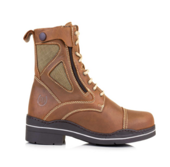 Bareback Footwear Unisex Kentucky Short Boots in Havana Brown Nubuck leather. High performance, quality equestrian footwear, shop online or buy in the knightsbrand, rookley, isle of wight, UK store.
