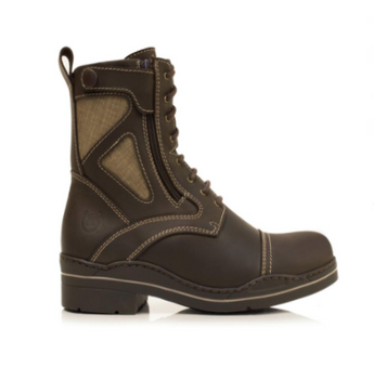 Bareback Footwear Unisex Kentucky Short Boots in Brown Nubuck leather. High performance, quality equestrian footwear, shop online or buy in the knightsbrand, rookley, isle of wight, UK store.
