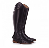 BareBack Footwear Unisex Beaumont Long Riding Boots in Black Calf Skin Leather. High Performance, Quality equstrian Footwear, Shop Online or buy in the Knightsbrand, Rookley, Isle of Wight, UK store.