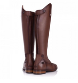BareBack Footwear Unisex Beaumont Long Riding Boots in Vintage Brown Calf skin leather. High performance, quality equestrian footwear, shop online or buy in the knighsbrand rookley, isle of wight UK store.