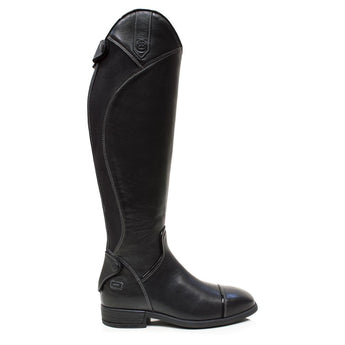 Bareback Footwear Woman's Georgia Black Leather and Suede Long Riding Boots
